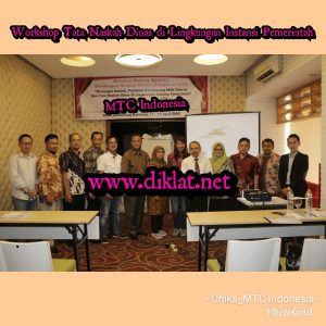 Workshop Tata Naskah Dinas di Lingkungan Instansi Pemerintah