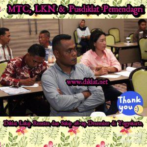 Diklat Lakip Renstra dan Sakip 28-29 Desember di Yogyakarta